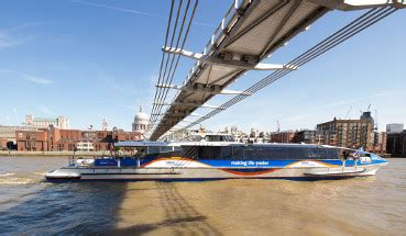thames clipper from gravesend tourist and commuter passenger vessels