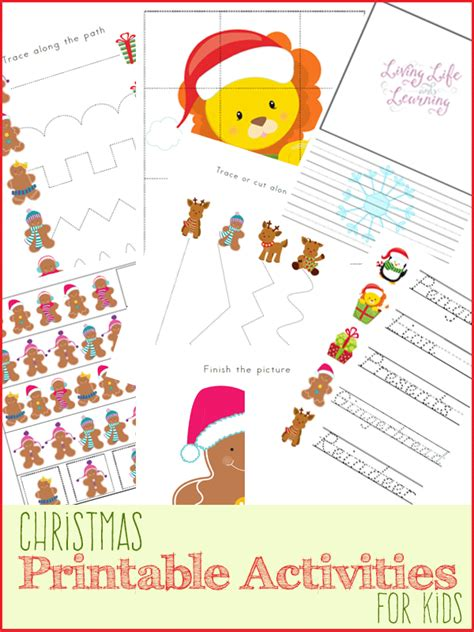 christmas activities for kids printable activities for