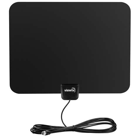 viewtv flat hd digital indoor lified tv antenna 50 range detacha ebay