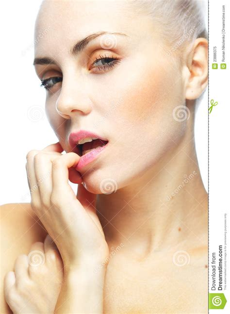 beautiful lady portrait of the beautiful lady royalty free stock photo