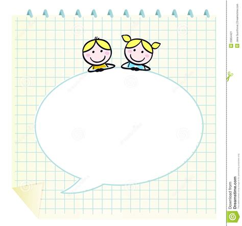 doodle notepad doodle school children with notepad stock image image