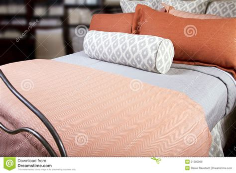 comfortable bed pillows comfortable hotel bed with multiple pillows royalty free