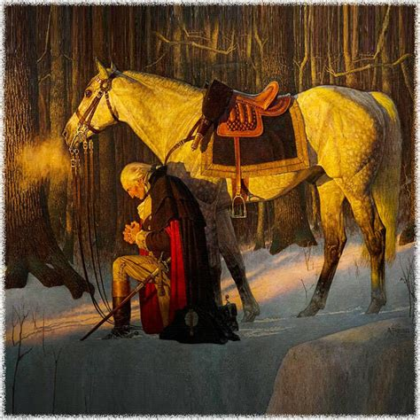 Washington At Valley Forge george washington s prayer at valley forge
