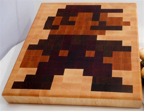 awesome cutting board plans bing images 8 bit mario cutting board