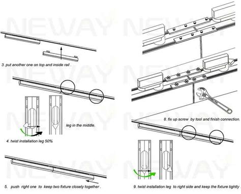 how does track lighting work 24w 60w track lighting suspension led linear light