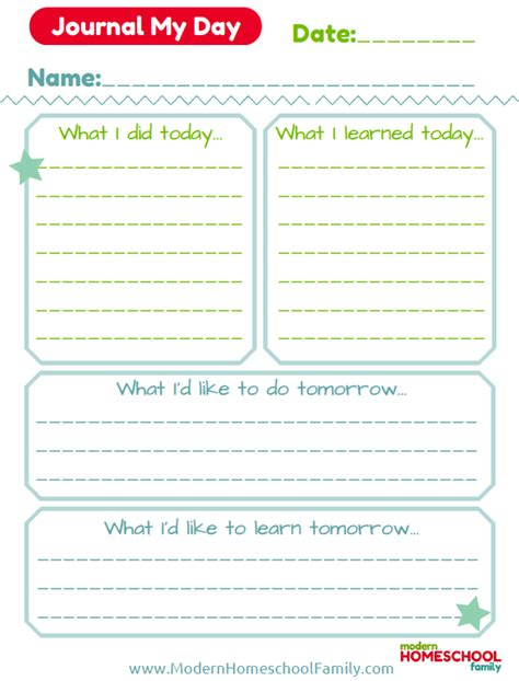 printable daily journal sheets 6 best images of daily journal pages free printable for a