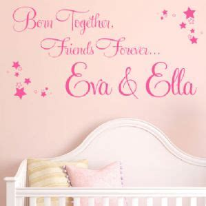 Wall Sticker Wallsticker Forever Friendship Sk7097 born together friends forever personalised wall sticker decal