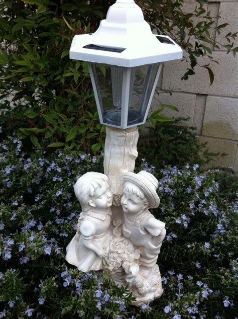 Solar Garden Ornaments Outdoor Decor Outdoor Garden Decor Boy And Sculpture Solar Light Ebay
