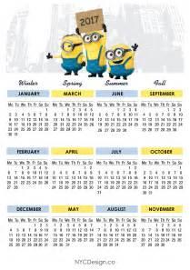 Mauritius Calendã 2018 New York Web Design Studio New York Ny Minions Calendar