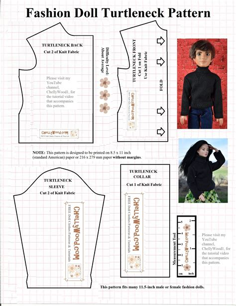 shirt pattern making books diy tutorial for sewing a turtleneck for fashiondolls