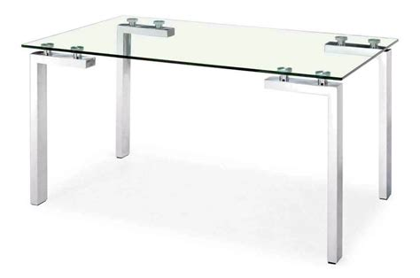 Clear Office Desk Clear Office Desk Simple Square Glass
