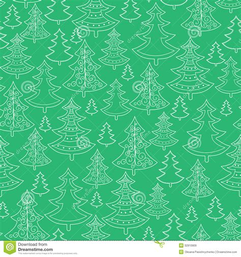 background pattern trees doodle christmas trees seamless pattern background royalty
