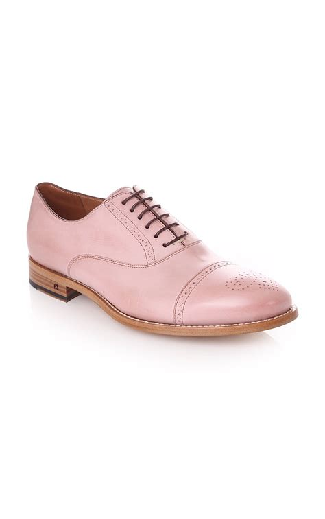 paul smith shoe mens berty cipria pale pink brogues