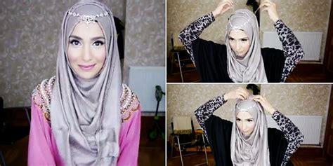 tutorial hijab pesta untuk orang tua cara berpakaian fashion hijab hairstyle gallery