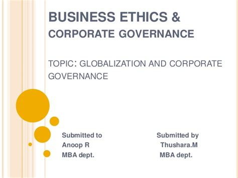 Business And Ethics Mba by Ethics Presentation 21 5 14