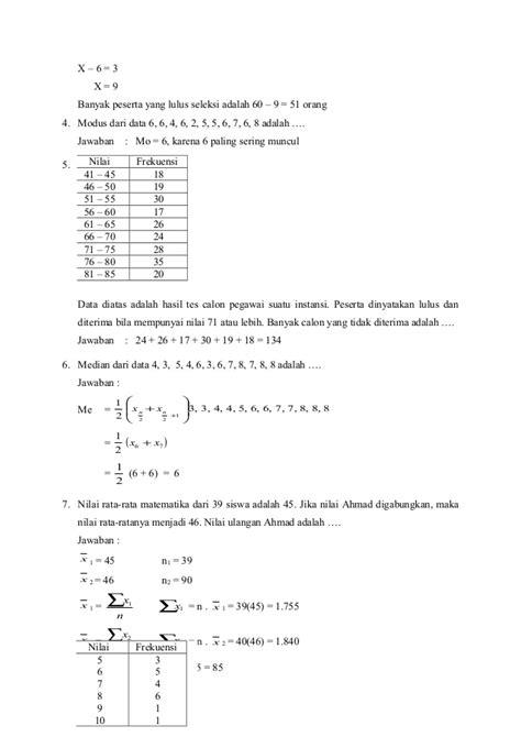 soal statistika membuat tabel distribusi frekuensi soal dan pembahasan statistika