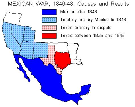 and the mexican war map sectionalism slavery