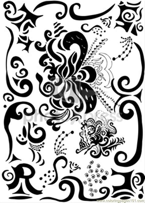 es pretty decoration  coloring page  decorations
