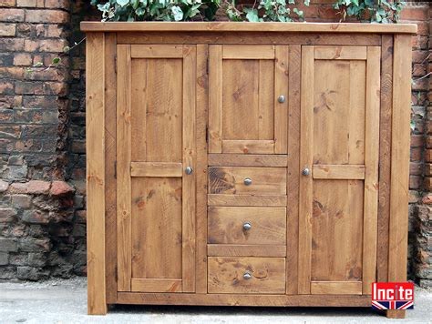 Pine Dining Room Cabinets Handcrafted Rustic Plank Pine Custom Made Pantry Cupboard