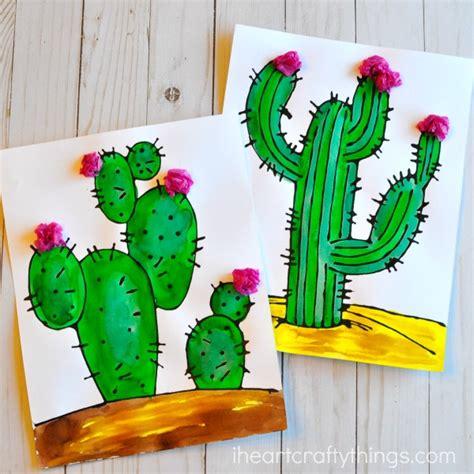 Cactus Papercraft - beautiful black glue cactus craft i crafty things