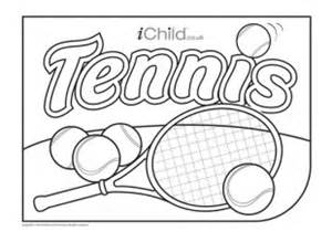 Tennis Racquet Colouring Pages sketch template