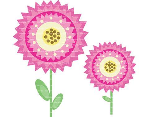 clipart fiore articoli simili a fiore clip digital clipart rosa