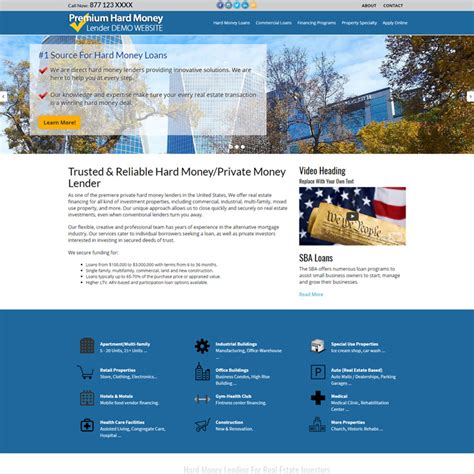 Commercial Mortgage Website Templates Loan Officer Website Templates