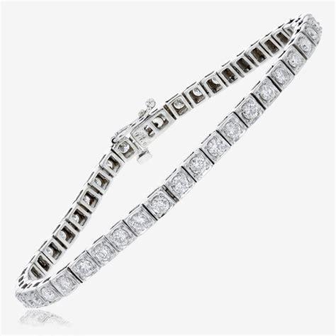 18ct white gold tennis bracelet 18ct white gold tennis bracelet 3 00ct