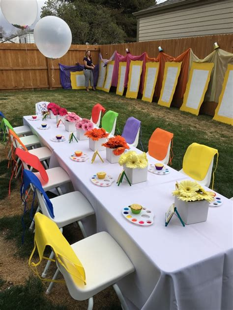 backyard party ideas for teenagers kids backyard art party idea pretty my party