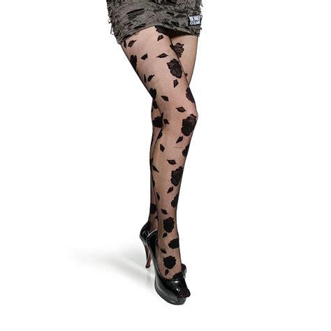patterned hosiery tights pamela mann tights black flocked rose hosiery flower