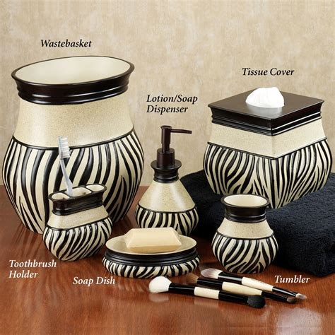 zebra bathroom decor zuma zebra bath accessories