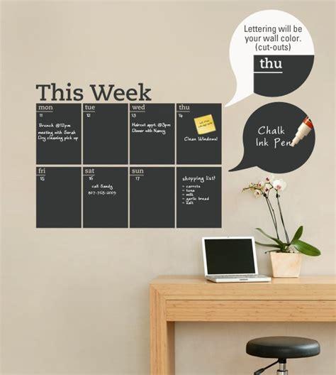 chalkboard paint calendar ideas weekly planner chalkboard calendar modern vinyl wall decal