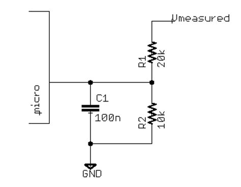 how to use capacitors to reduce noise microcontroller interfacing