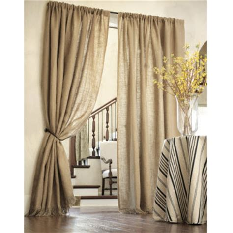 fringed burlap curtains drapery panels for a gray dining room driven by decor