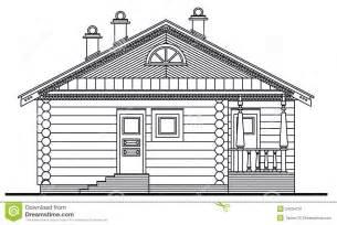 desenho 2d online desenho detalhado da fachada de madeira da sauna imagem de
