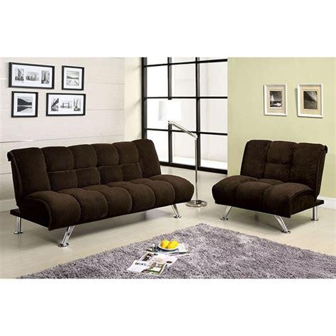 futon sofa set furniture of america cm2908 maybelle chocolate corduroy