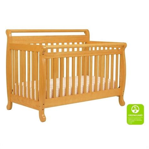 Davinci Emily 4 In 1 Convertible Crib In Honey Oak With Davinci Crib Mattress