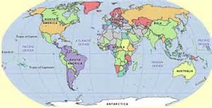 The world map equator