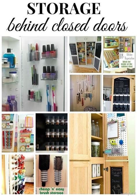clever storage solutions behind closed doors storage behind closed doors creative extra storage and