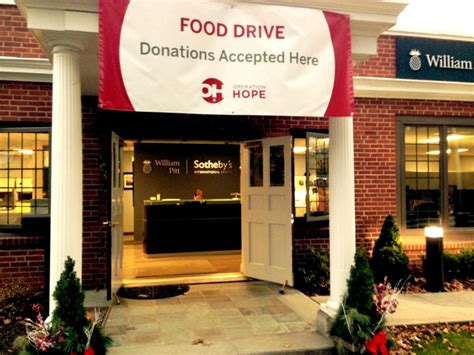 realty firm helps collect food for operation pantry