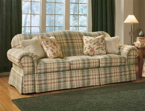 country sofa slipcovers country slipcovers a sweet green gingham slipcover in a