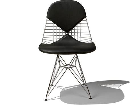 Bedroom Media Furniture eames 174 wire chair with bikini pad hivemodern com