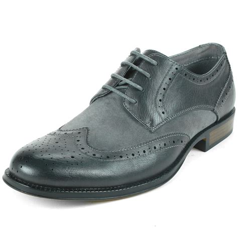 two tone mens oxford shoes alpine swiss zurich s wing tip dress shoes two tone