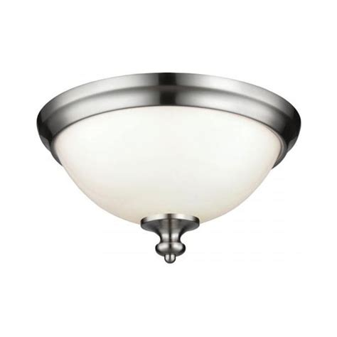flush fitting low ceiling light opal dome shade with