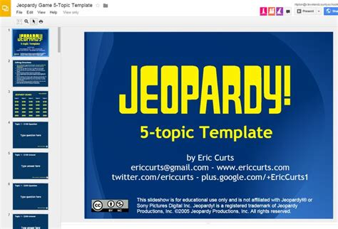 game templates for google slides great quot jeopardy quot template for google slides google it