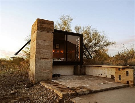 tiny houses arizona miner s shelter tiny desert dwelling clad in glass and steel