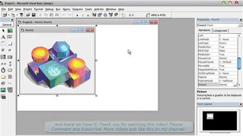 visual basic beginners tutorial visual basic 6 beginners tutorial how to add an image