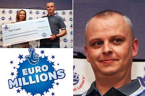 euromillions winner neil trotter and 10 others to scoop the lottery jackpot mirror