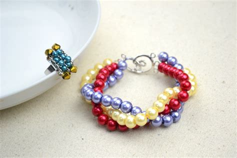 Handmade Beaded Jewellery Ideas - handmade beaded jewelry designs simple pearl bracelet and