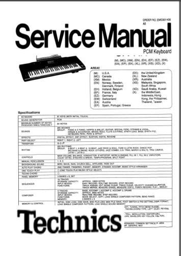 Keyboard Technics Sx Kn 2600 technics sx kn2600 kn2600 keyboard service manual